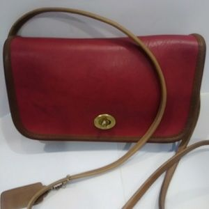 COACH VINTAGE BAG SPECTATOR DINKY IN TABAC TRIM